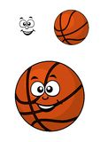 Isolated basketball ball with a happy face Stock Photography
