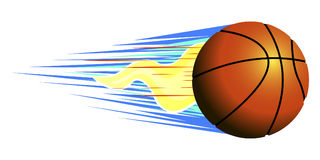 Isolated basketball ball. On a white background, Vector illustration Stock Image
