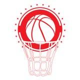 Isolated basketball emblem Royalty Free Stock Image