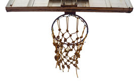 Isolated basketball hoop Stock Images