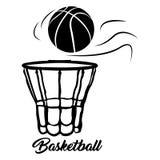 Isolated basketball net Stock Photo