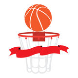 Isolated basketball net Royalty Free Stock Images