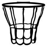 Isolated basketball net Stock Photography
