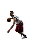 Isolated basketball player in action is flying Stock Photography