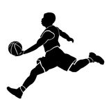 Isolated basketball player Royalty Free Stock Photography