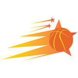 Isolated basketball stamp Royalty Free Stock Photos
