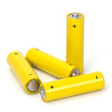 Isolated batteries Royalty Free Stock Photos