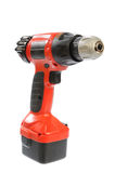 Isolated battery drill-screwdriver Royalty Free Stock Image