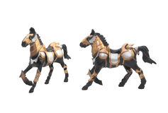 Isolated battle horse statue. royalty free stock photos