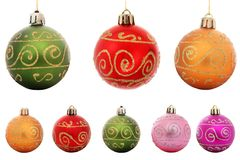 Isolated Baubles. Selection of isolated Christmas baubles with white background vector illustration
