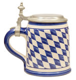 Isolated Bavarian Beer Stein Royalty Free Stock Image
