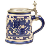 Isolated Bavarian Beer Stein II Stock Photo
