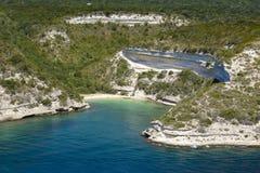 Isolated beach at Bonifacio, Corsica. Isolated beach at Bonifacio coast Royalty Free Stock Image