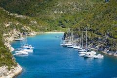 Isolated beach at Bonifacio, Corsica. Isolated beach at Bonifacio coast Royalty Free Stock Photography