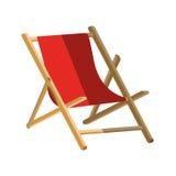 Isolated beach chair design stock illustration