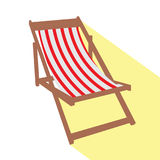 Isolated beach chair Stock Photos