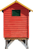 Isolated beach hut. Isolated red green and yellow beach hut Royalty Free Stock Images