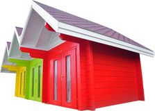 Isolated Beach Huts Stock Image