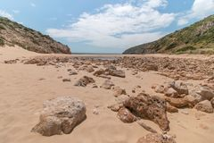 Isolated beach Stock Images