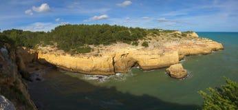 Isolated beach near Carvoeiro, Algarve Stock Photo