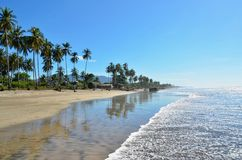 Isolated beach at Playa El Espino, El Salvador Stock Photos