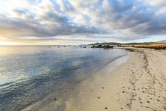 Isolated beach at sunrise with clouds, Sardinia, Italy. Isolated beach at sunrise with clouds, Sardinia Stock Image