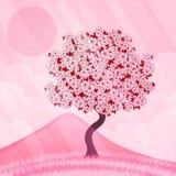 Isolated beautiful cherry blossom tree. Vector illustration Stock Photo