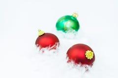 Isolated beautiful Christmas ornaments Stock Photo