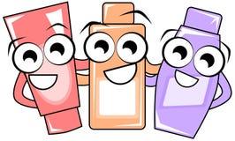 Nice isolated Beauty creams cartoon isolated Stock Image