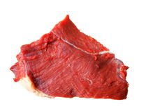 Isolated beef steak on white Stock Image