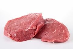 Isolated beefsteak Stock Images
