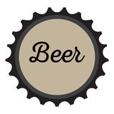 Isolated beer bottle cap Royalty Free Stock Photography