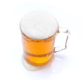 Isolated beer in glass mug Stock Photos