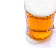 Isolated beer in glass mug Royalty Free Stock Image