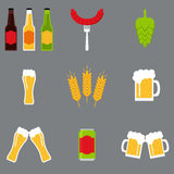 Isolated beer icons set. Beer icons collection. Royalty Free Stock Photo