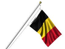 Isolated Belgian Flag Stock Photos