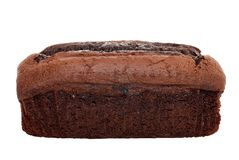Isolated belgium chocolate cake loaf Stock Photos