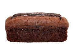 Isolated belgium chocolate cake loaf Stock Photos