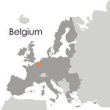 Isolated belgium map design Royalty Free Stock Image
