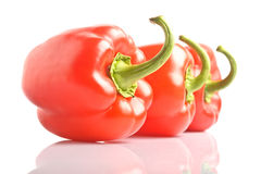 Isolated bell pepper paprika Stock Images