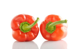Isolated bell pepper paprika Stock Photo