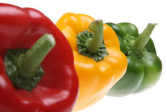 Isolated Bell Peppers Stock Image