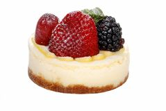 Isolated berry cheesecake Royalty Free Stock Images
