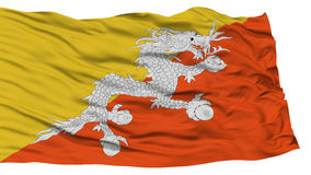 Isolated Bhutan Flag Royalty Free Stock Images