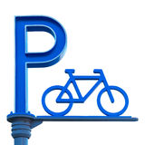 Isolated Bicycle Parking Icon Royalty Free Stock Photos