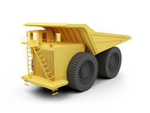 Isolated big dump truck Royalty Free Stock Image