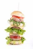 Isolated big hamburger Royalty Free Stock Photo