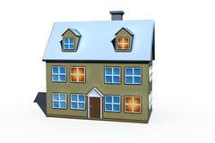 Isolated big house royalty free stock image