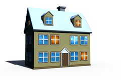 Isolated big house stock image