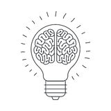 Isolated big idea draw design Stock Images
